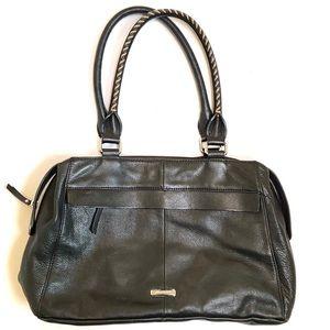 B. Makowsky Pebbled Leather Handbag Purse